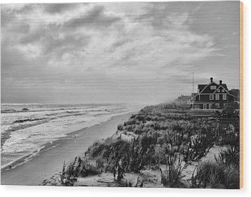 Mantoloking Beach - Jersey Shore Wood Print by Angie Tirado