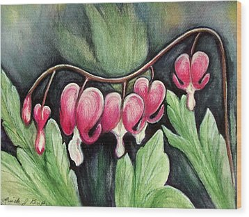 Many Bleeding Hearts Wood Print