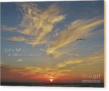 Many Colored Sunset Wood Print by John Groeneveld