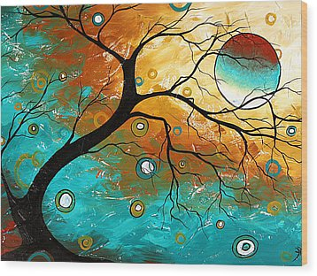 Many Moons Ago By Madart Wood Print by Megan Duncanson