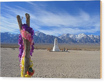 Manzanar Wood Print by Nature Macabre Photography