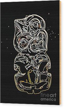 Maori Art Wood Print