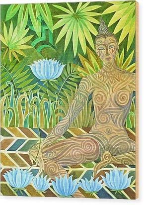 Maori Tara  Wood Print by Jennifer Baird