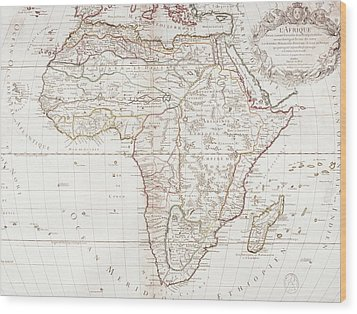 Map Of Africa Wood Print by Fototeca Storica Nazionale