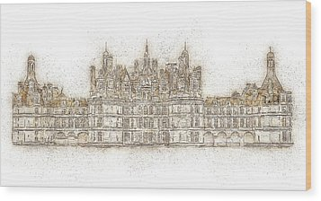 Map Of The Castle Chambord Wood Print by Anton Kalinichev