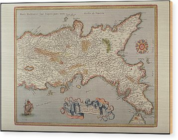 Map Of The Kingdom Of Naples Wood Print by Fototeca Storica Nazionale