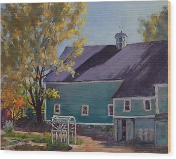 Maple Hill Farm Wood Print