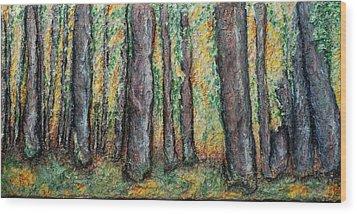 Maple Trees Wood Print by Alison  Galvan