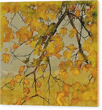 Maples In Autumn Wood Print by Carolyn Doe