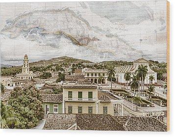 Mapping Trinidad Wood Print