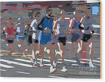 Marathon Runners I Wood Print by Clarence Holmes
