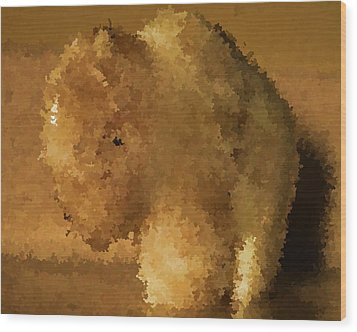 Marble Bison Wood Print