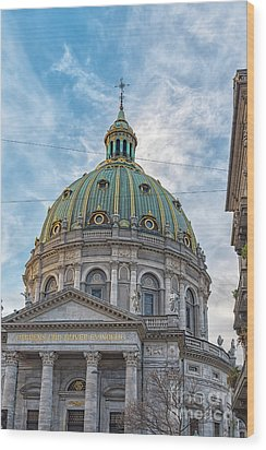 Wood Print featuring the photograph Marble Church In Copenhagen by Antony McAulay