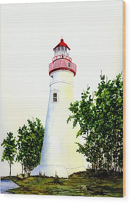 Marblehead Lighthouse Wood Print by Michael Vigliotti