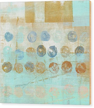 Wood Print featuring the mixed media Marbles Found Number 1 by Carol Leigh