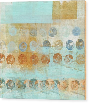 Wood Print featuring the mixed media Marbles Found Number 2 by Carol Leigh