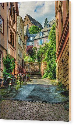 Wood Print featuring the photograph Marburg Alley by David Morefield
