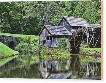 Wood Print featuring the photograph Marby Mill 3 by Paul Ward