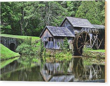 Marby Mill 3 Wood Print by Paul Ward