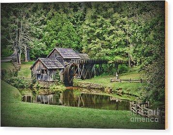 Marby Mill Landscape Wood Print by Paul Ward