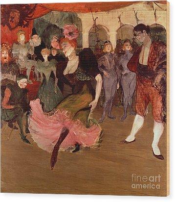 Marcelle Lender Dancing The Bolero In Chilperic Wood Print by Henri de Toulouse Lautrec