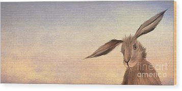 March Hare Wood Print by John Edwards