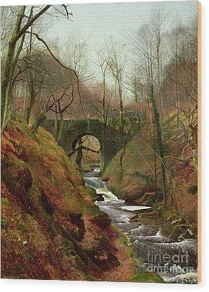March Morning Wood Print by John Atkinson Grimshaw