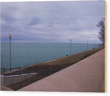 March On Lake Michigan Wood Print by Anna Villarreal Garbis