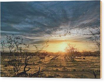 March Sunrise Wood Print