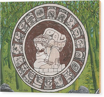 March  The Mayan Calendar Wood Print