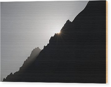 Mountain Sunset Wood Print by Marco Missiaja