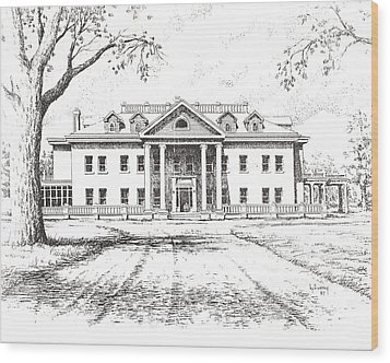 Marcus Daly Mansion Hamilton Montana Wood Print by Kevin Heaney