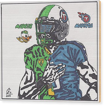 Marcus Mariota Crossover Wood Print by Jeremiah Colley