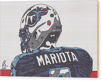 Marcus Mariota Titans 2 Wood Print by Jeremiah Colley