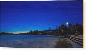 Wood Print featuring the photograph Marcy Casino Winter Twilight by Chris Bordeleau