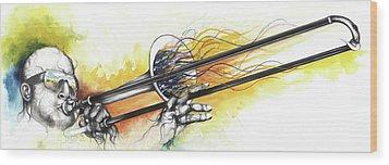 Mardi Gras 2 Wood Print by Anthony Burks Sr