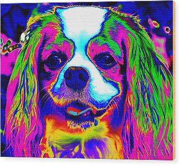 Mardi Gras Dog Wood Print