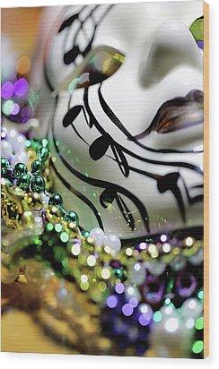 Mardi Gras I Wood Print by Trish Mistric