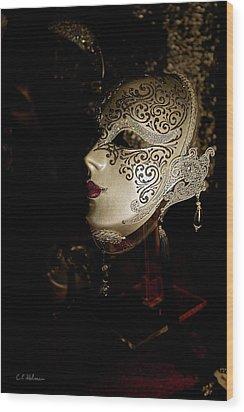 Mardi Gras Mask Wood Print by Christopher Holmes