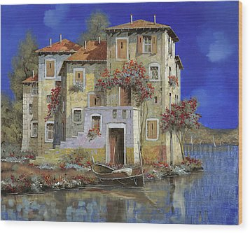 Mareblu' Wood Print by Guido Borelli