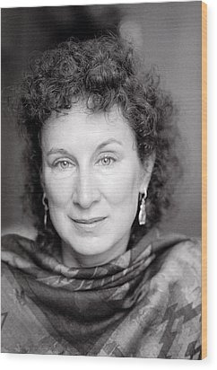 Margaret Atwood Wood Print by Shaun Higson