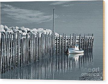 Margaretsville Wharf  Wood Print