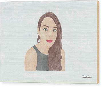 Mariand Castrejon - Yuya Wood Print