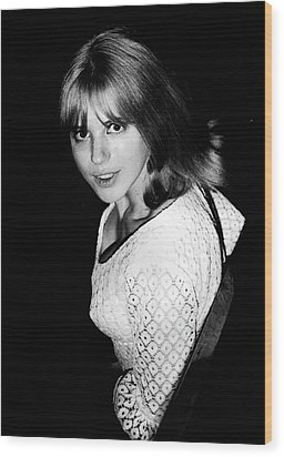 Wood Print featuring the photograph Marianne Faithfull 1964 by Chris Walter
