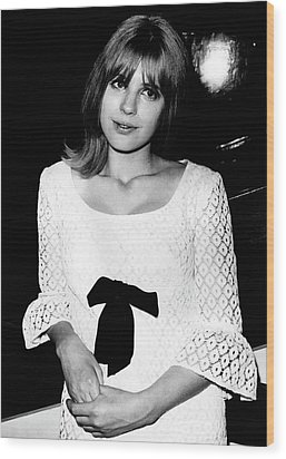 Wood Print featuring the photograph Marianne Faithfull 1964 No 2 by Chris Walter