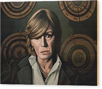 Marianne Faithfull Painting Wood Print by Paul Meijering
