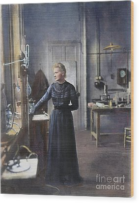Marie Curie (1867-1934) Wood Print by Granger