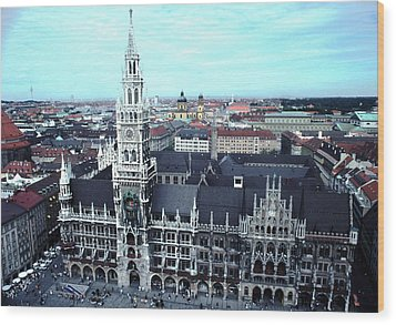 Marienplatz  City Hall Munich Wood Print by Tom Wurl