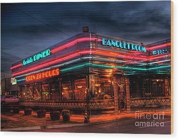 Marietta Diner Wood Print by Corky Willis Atlanta Photography