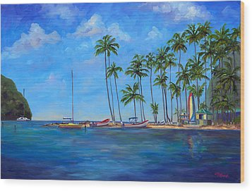 Marigot Bay St. Lucia Wood Print by Jeff Pittman
